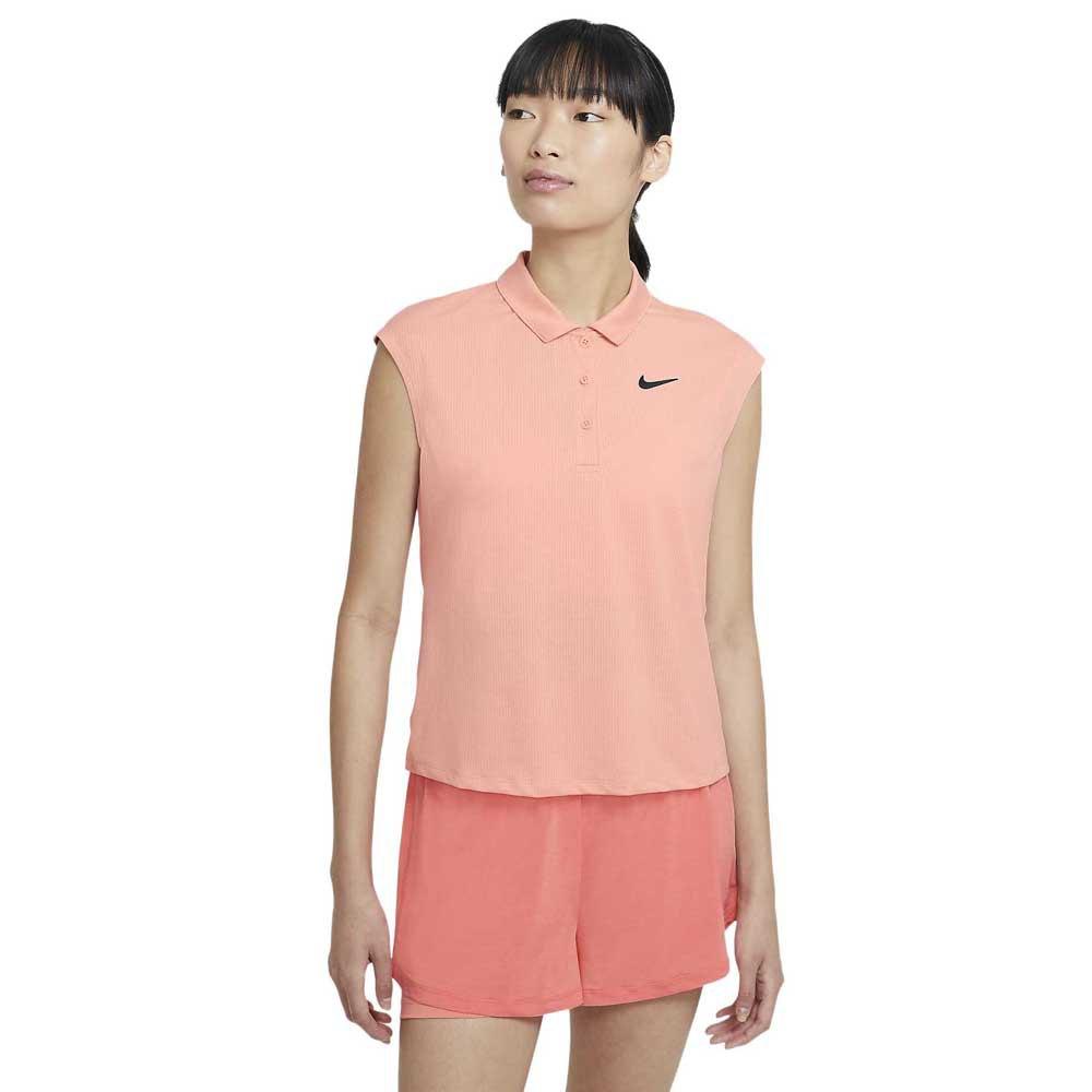 Nike Polo Manche Courte Court Victory S Arctic Orange / Black