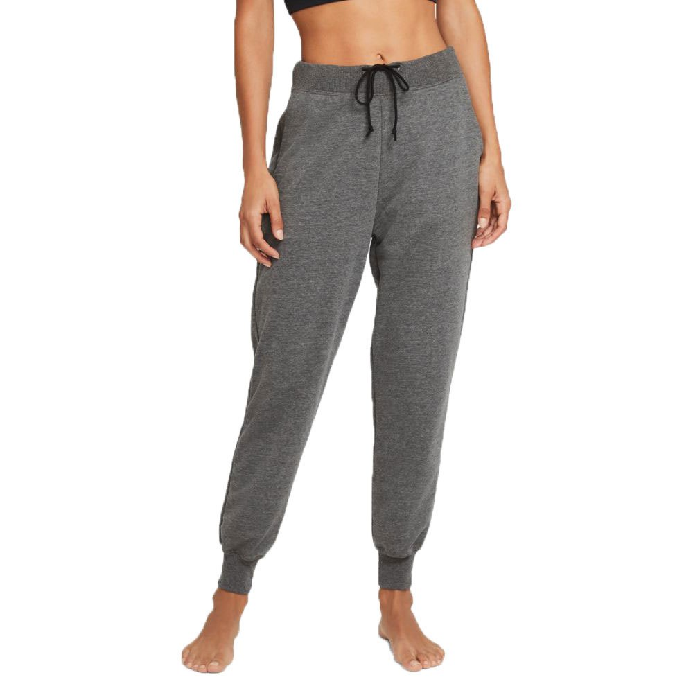 Nike Pantalon Longue Yoga French Terry Joggers S Black / Htr / Dk Smoke Grey