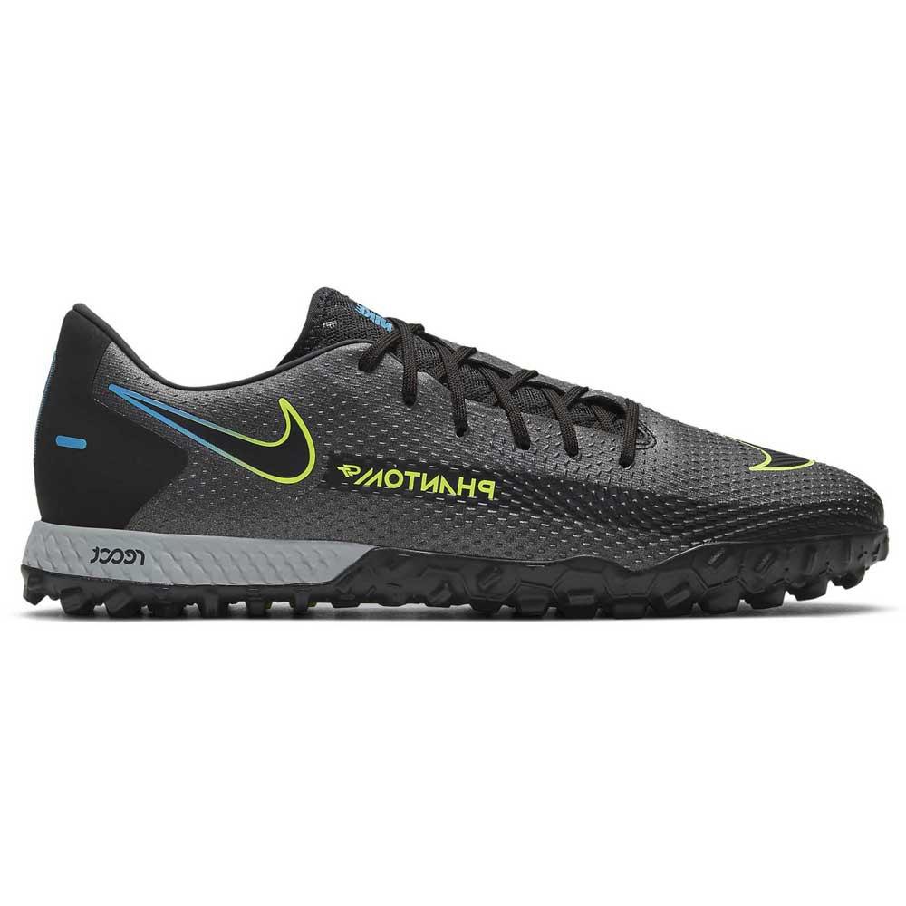 Nike Chaussures Football React Phantom Gt Pro Tf EU 37 1/2 Black / Black / Cyber / Lt Photo Blue