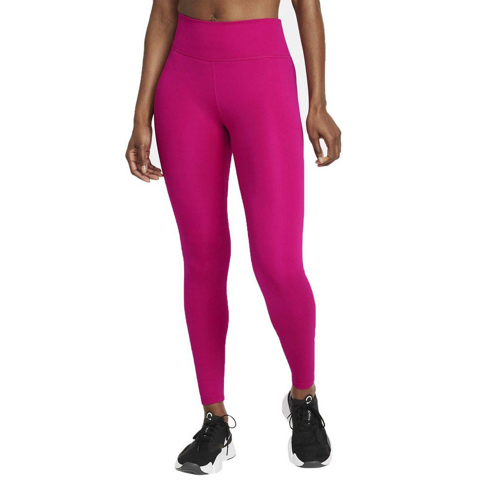 Nike Legging Dri Fit One Taille Moyenne XS Fireberry / White