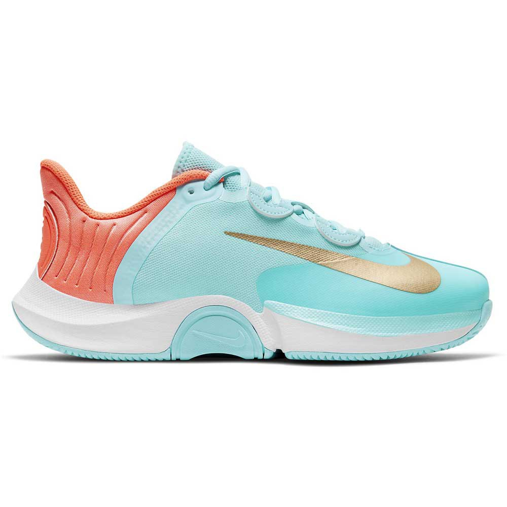 Nike Court Air Zoom Gp Turbo Hard Court EU 38 1/2 Copa / Metallic Gold / Bright Mango / White