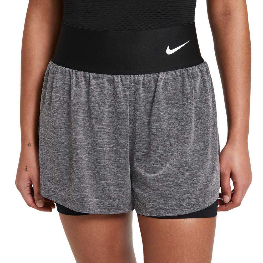Nike Short Court Advantage S Black / Black Heather / Black / White