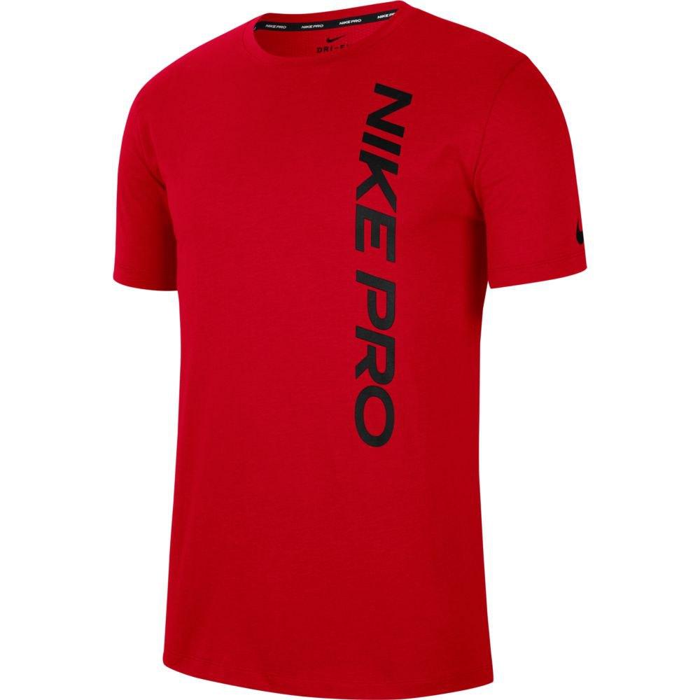 Nike T-shirt Manche Courte Pro S University Red / Black