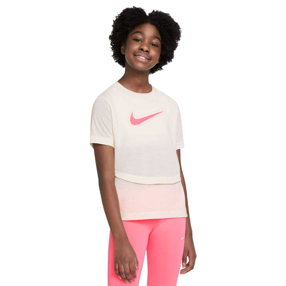 Nike T-shirt Manche Courte Dri-fit Trophy XL Coconut Milk / Coconut Milk / Sunset Pulse