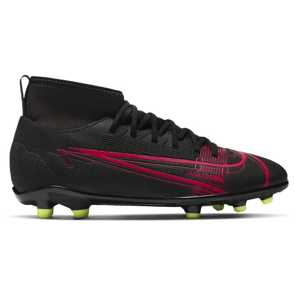 Nike Chaussures Football Mercurial Superfly Viii Club Fg/mg EU 32 Black / Black / Cyber