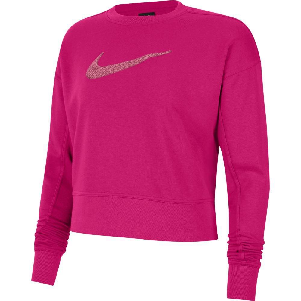 Nike Dri-figefiswoosh Crew T-shirt Manche Longue S Fireberry / Sweet Beet