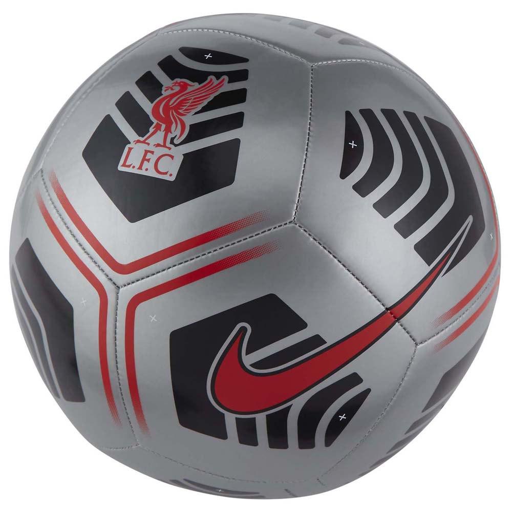 Nike Ballon Football Liverpool Fc Pitch 4 Silver / Black / Bright Crimson