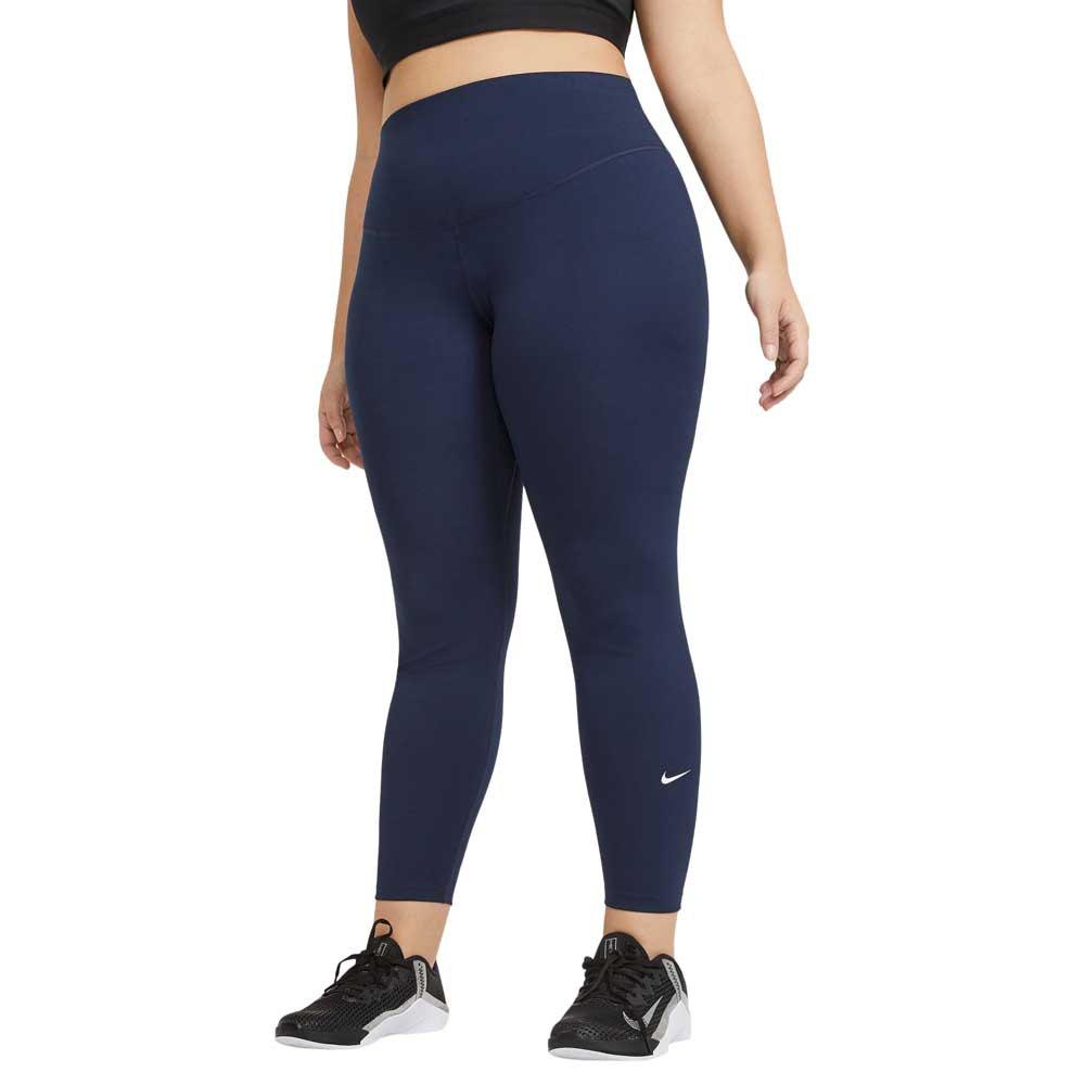 Nike Legging Dri Fit One Taille Moyenne L Obsidian / White
