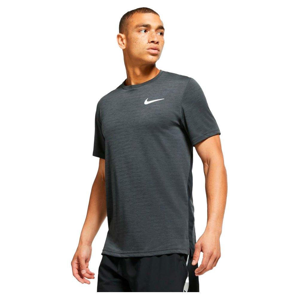 Nike T-shirt Manche Courte Top XL Black / Iron Grey / Htr / White