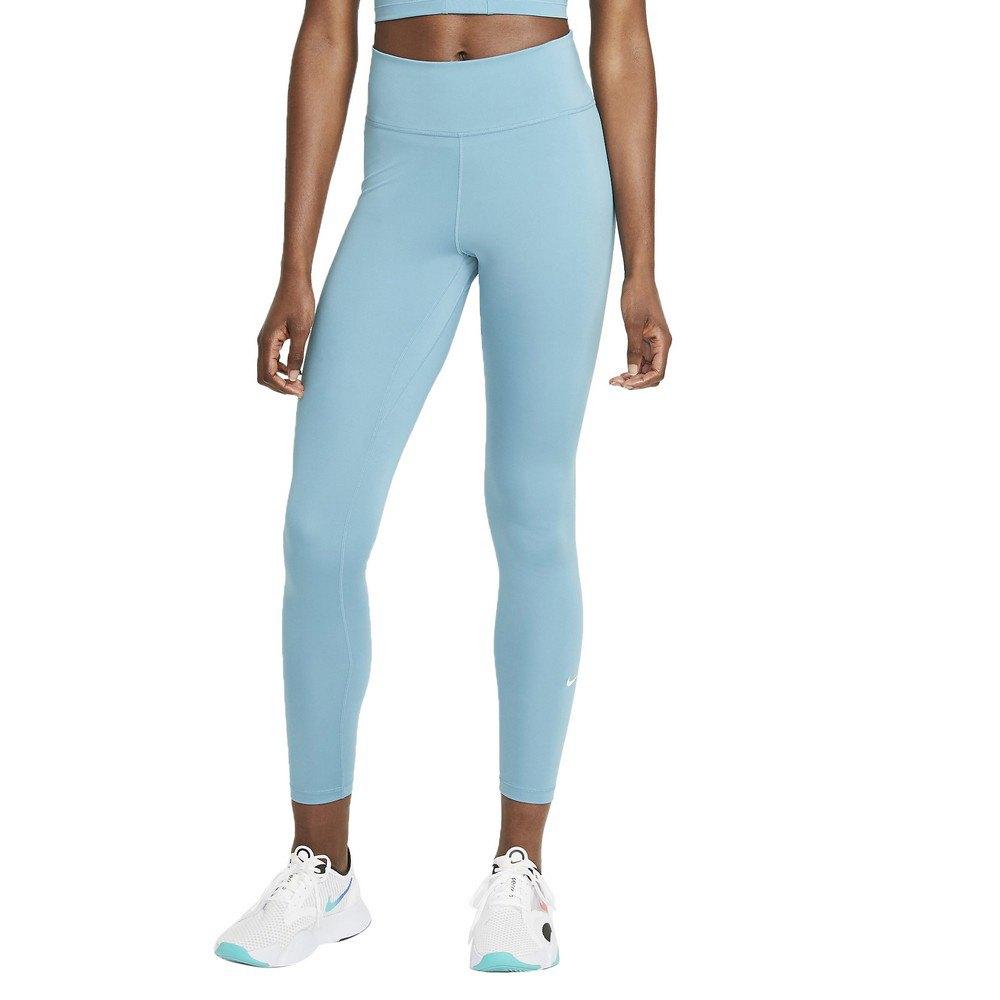 Nike Legging Dri Fit One Taille Moyenne XS Cerulean / White