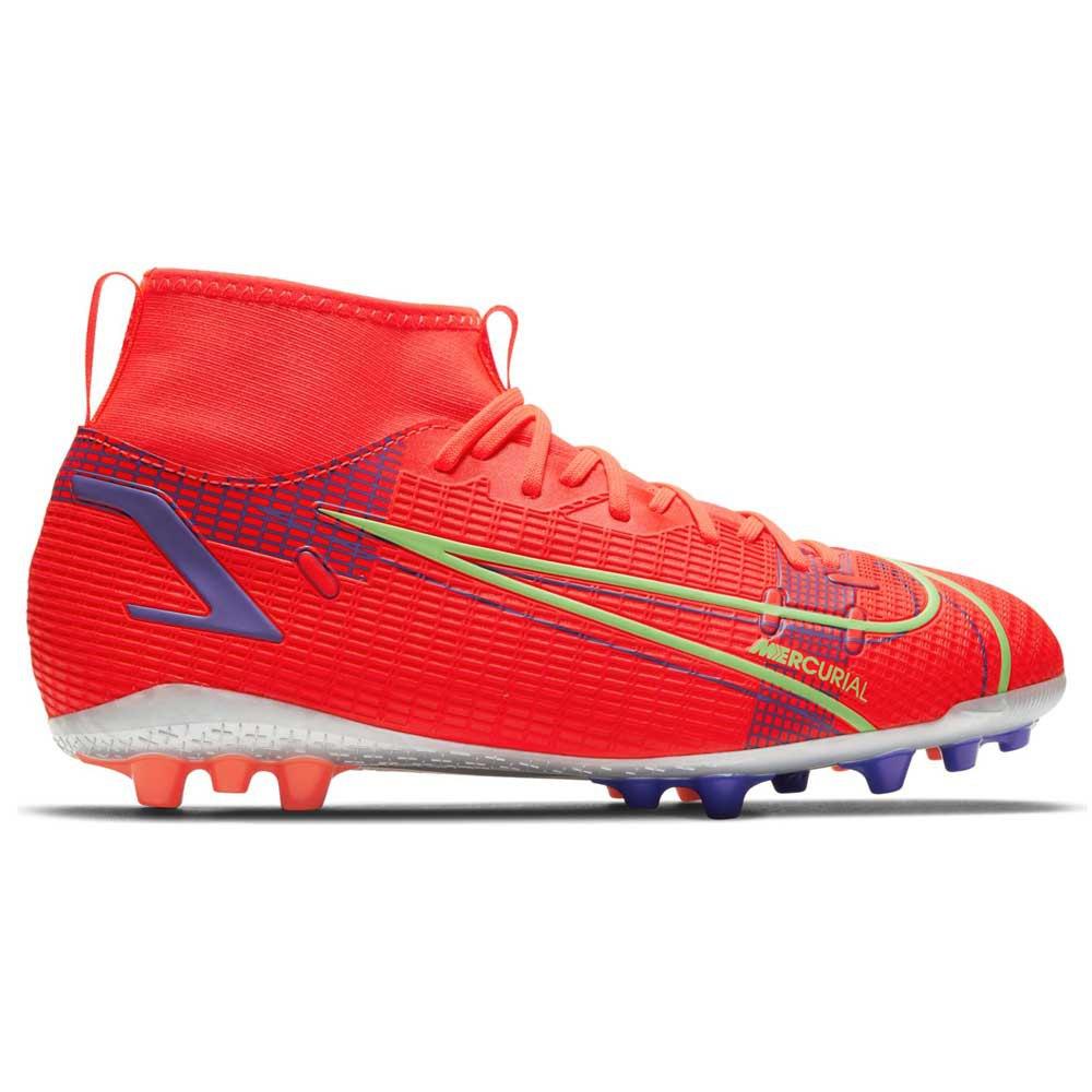 Nike Mercurial Superfly Viii Academy Ag Football Boots EU 35 Bright Crimson / Metallic Silver
