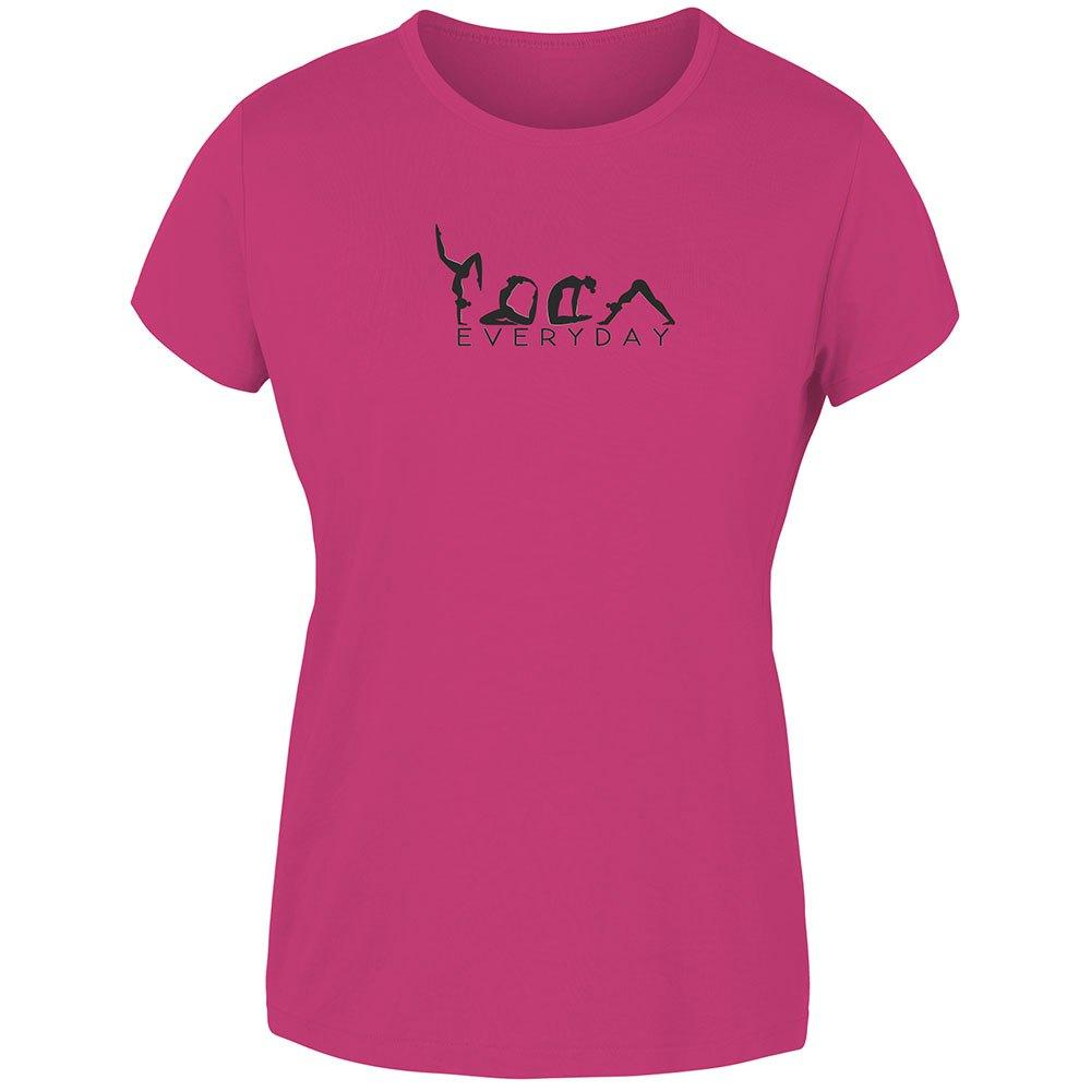 Joluvi T-shirt Manche Courte Yogui Day L Fuchsia