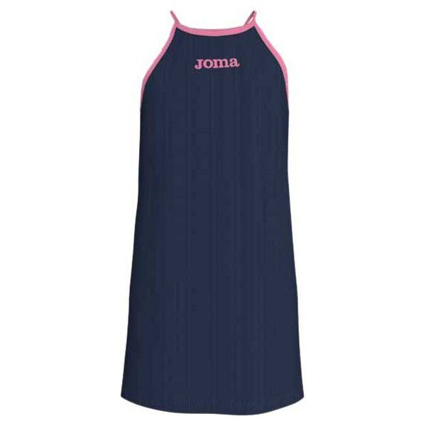 Joma Robe Longue Carabassi 7-8 Years Navy / Pink