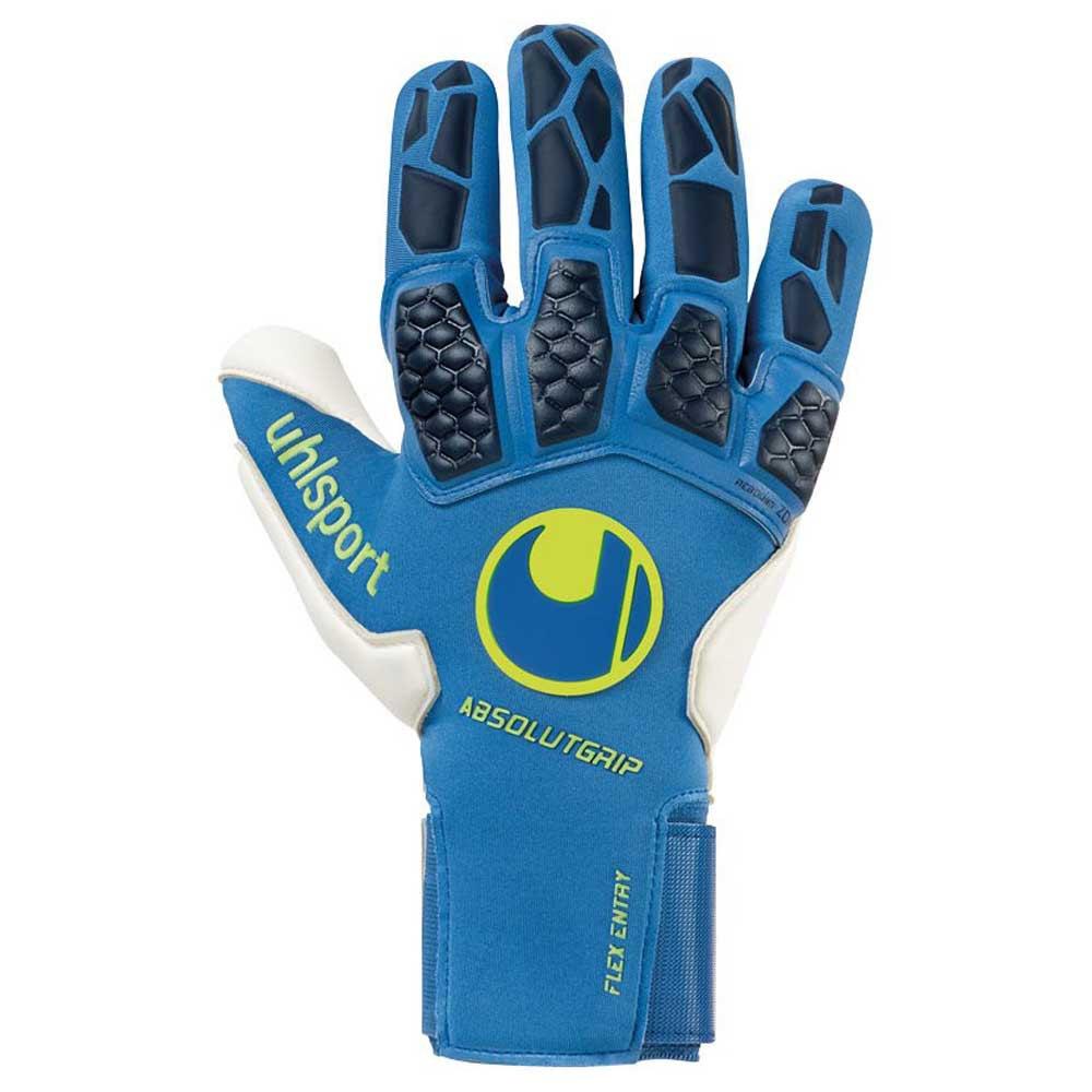 Uhlsport Gants Gardien Hyperact Absolutgrip Reflex 7 Night Blue / White / Fluo Yellow
