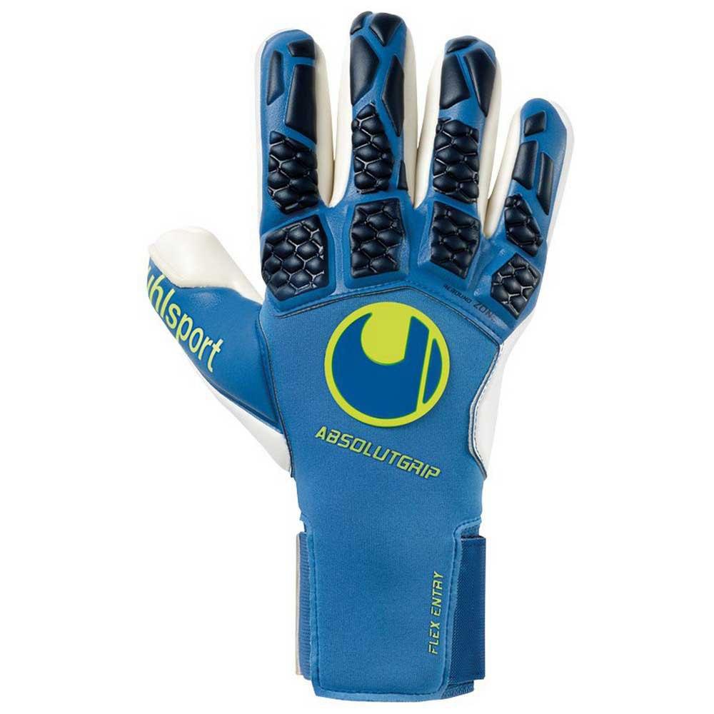 Uhlsport Gants Gardien Hyperact Absolutgrip Finger Surround 7.5 Night Blue / White / Fluo Yellow