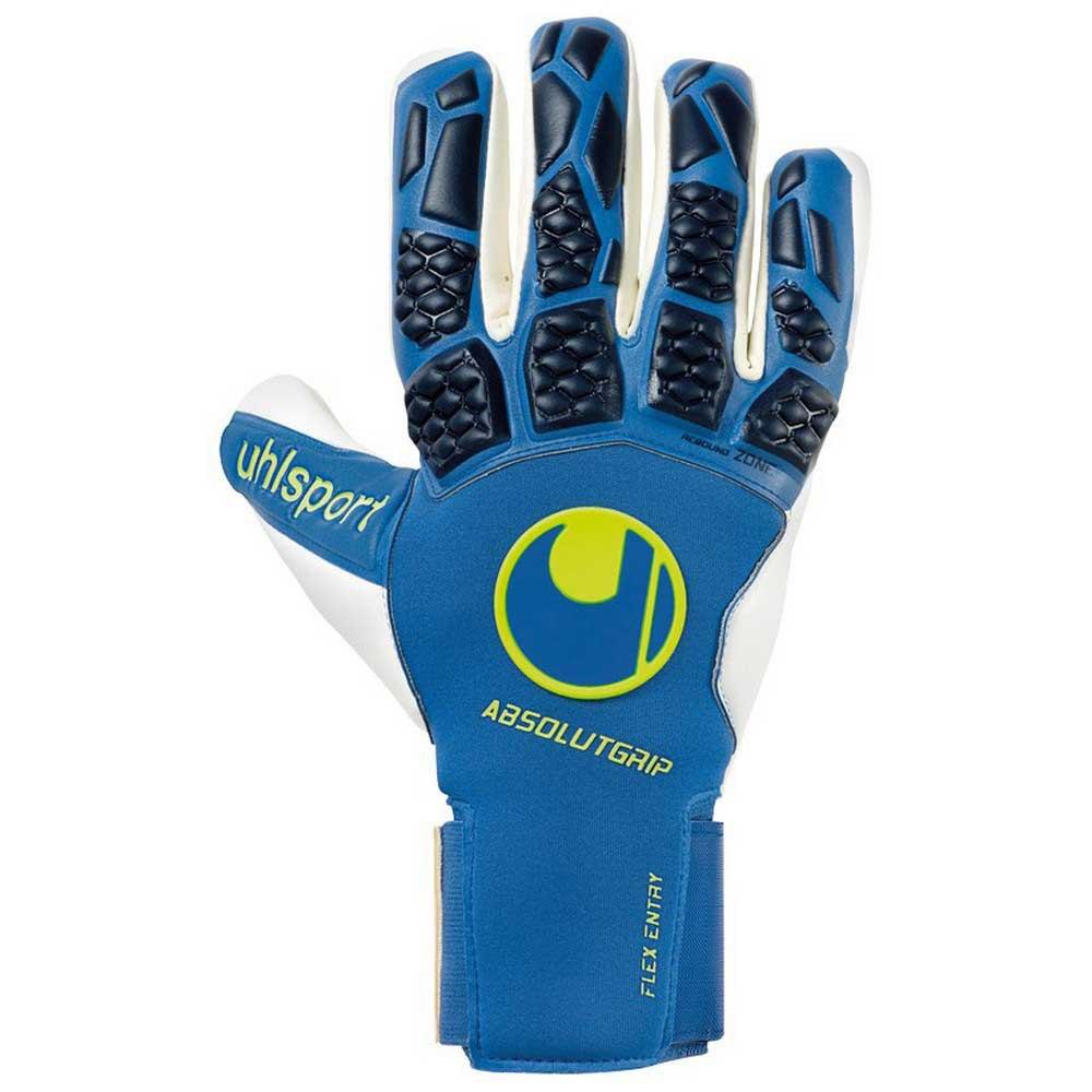 Uhlsport Gants Gardien Hyperact Absolutgrip Half Negative 7.5 Night Blue / White / Fluo Yellow