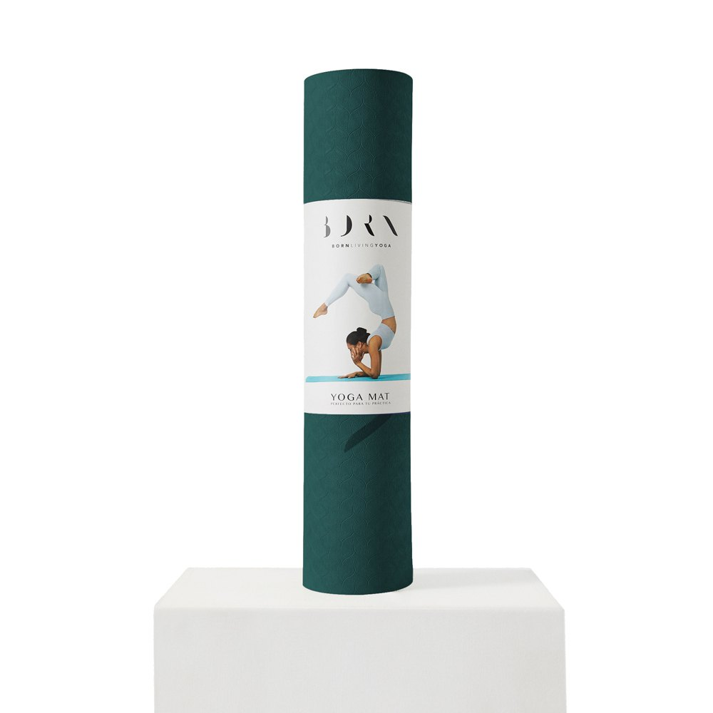 Born Living Yoga Mat 61 x 181 cm Dark Forest