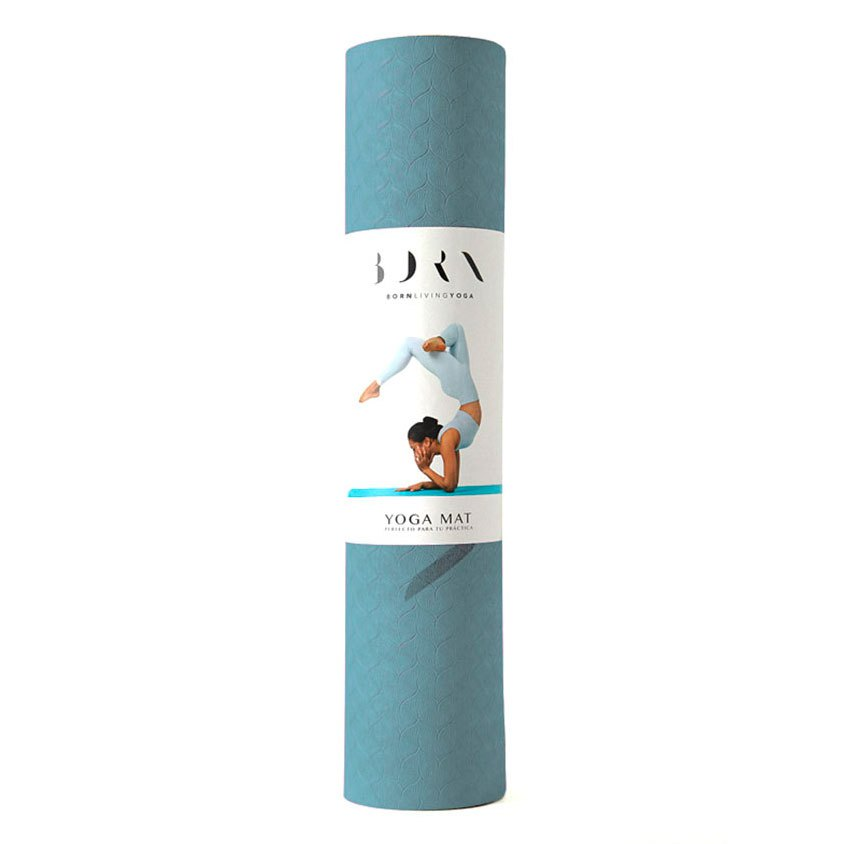 Born Living Yoga Mat 61 x 181 cm Light Blue