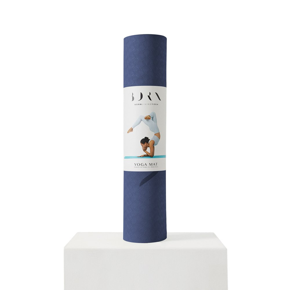 Born Living Yoga Mat 61 x 181 cm Navy