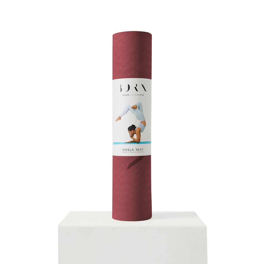 Born Living Yoga Mat 61 x 181 cm Wine