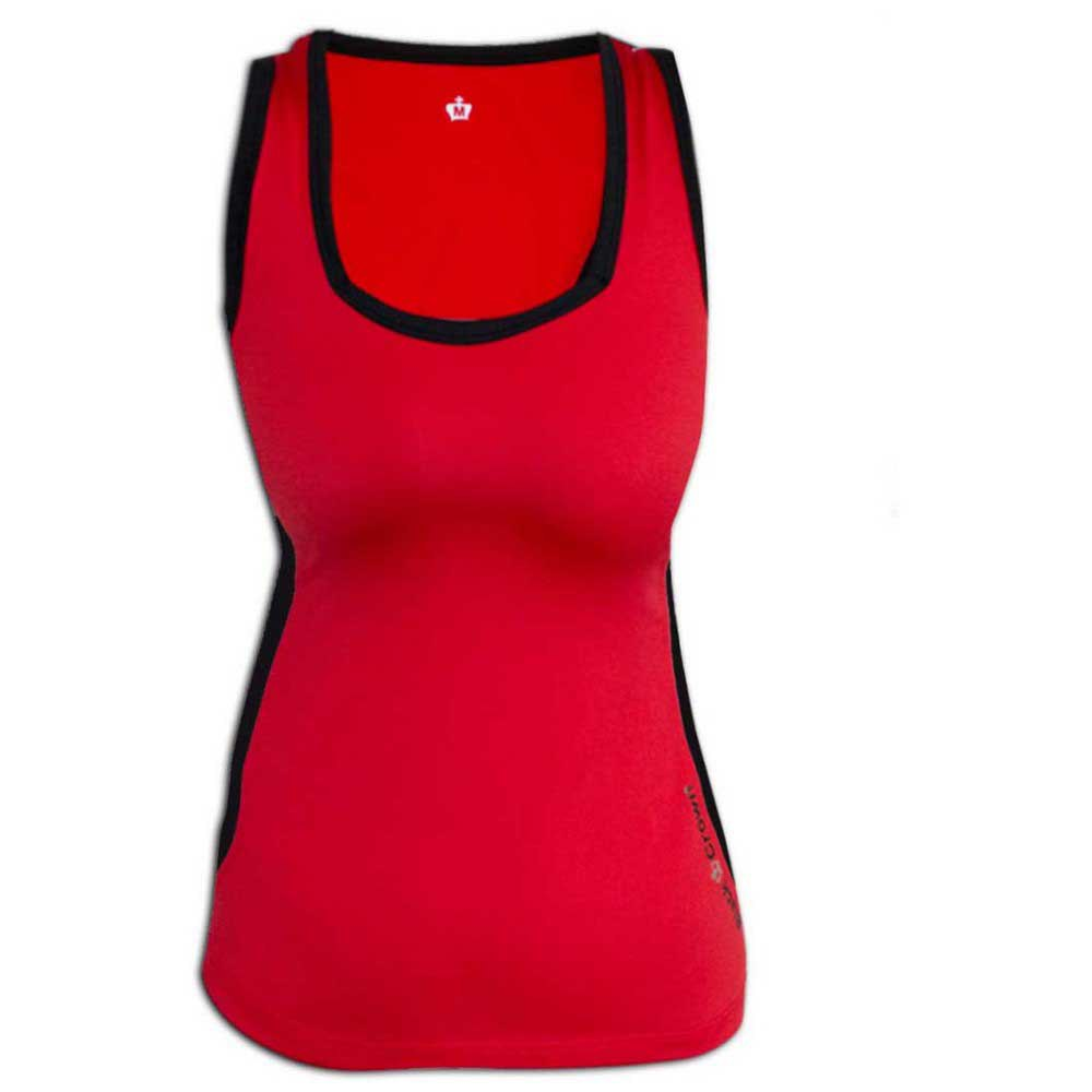 Black Crown T-shirt Sans Manches Calella S Red / Black