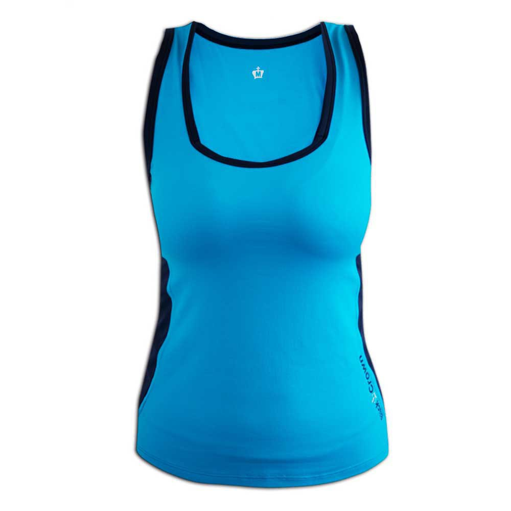 Black Crown T-shirt Sans Manches Calella S Turquoise / Navy