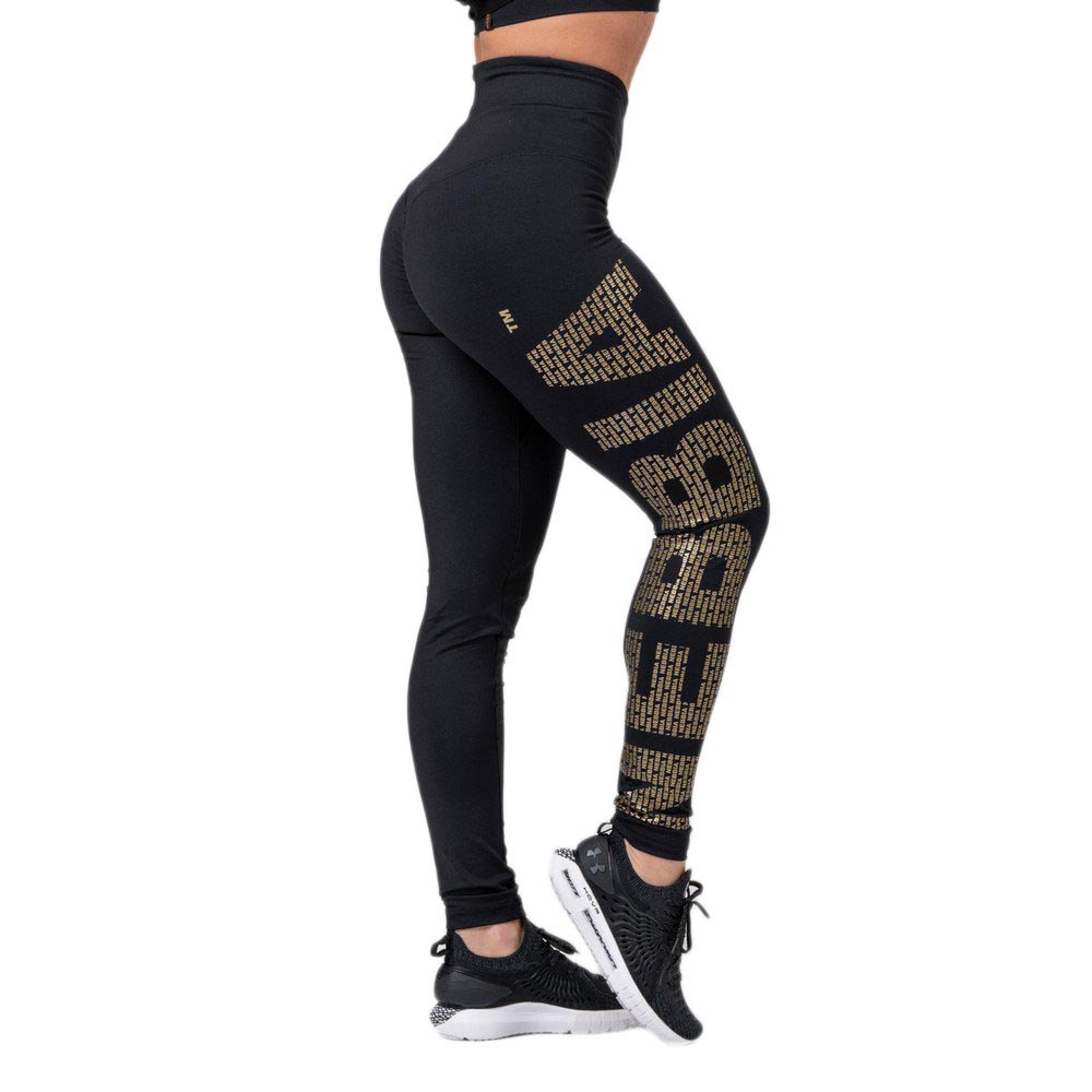 Nebbia Intense Gold Print XS Black