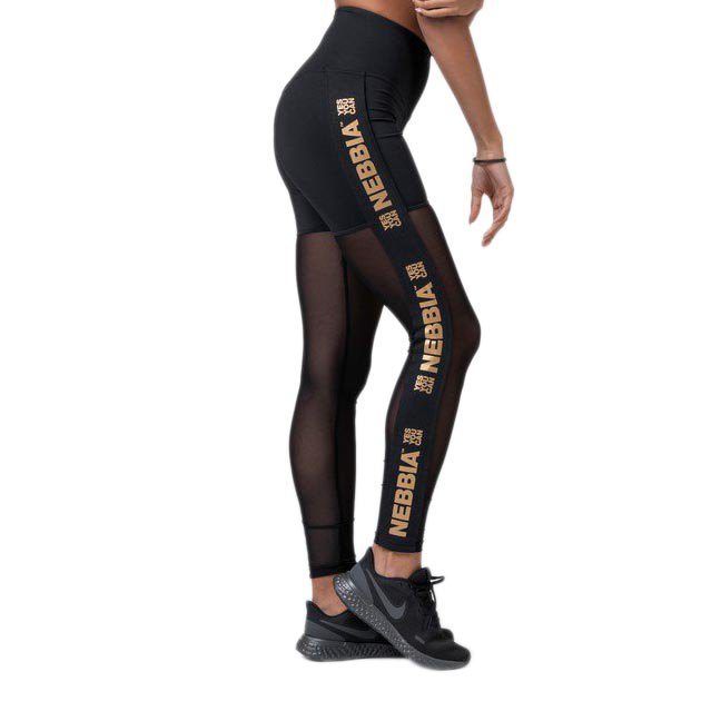 Nebbia Intense Gold Mesh XS Black