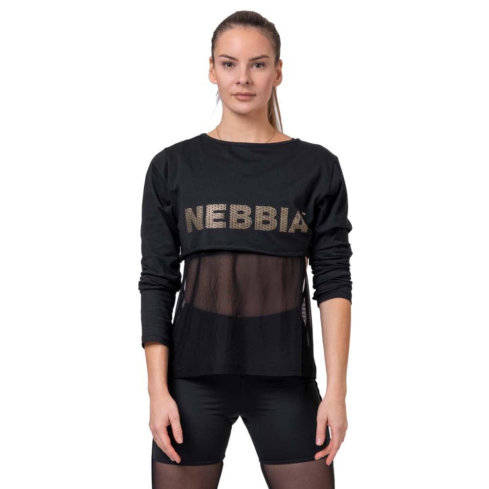 Nebbia Intense Mesh T-shirt Manche Longue XS Black