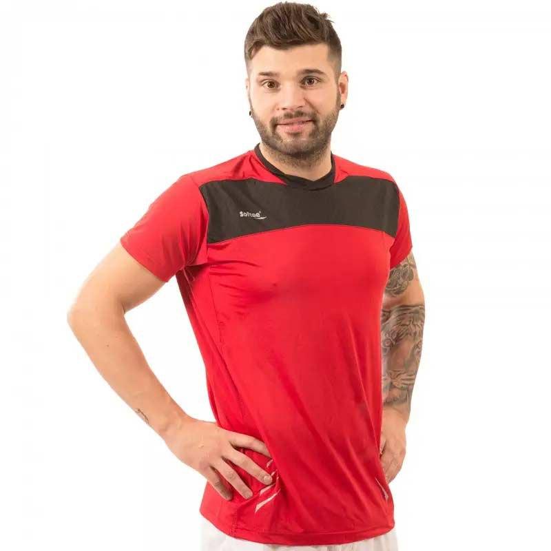 Softee T-shirt Manche Courte Net S Red / Black