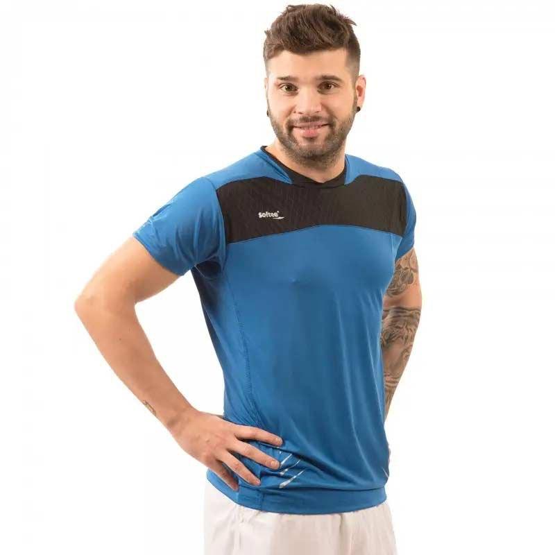 Softee T-shirt Manche Courte Net S Blue / Black