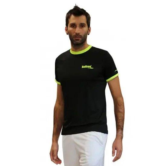 Softee T-shirt Manche Courte Galaxy S Black / Yellow Fluor