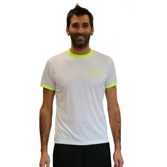 Softee T-shirt Manche Courte Galaxy S White / Yellow Fluor