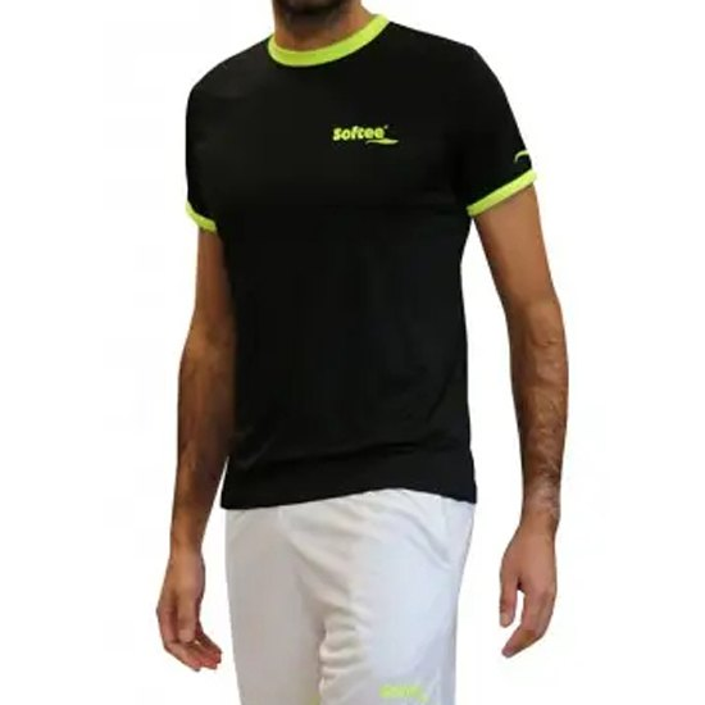 Softee T-shirt Manche Courte Galaxy 12 Years Black / Yellow Fluor