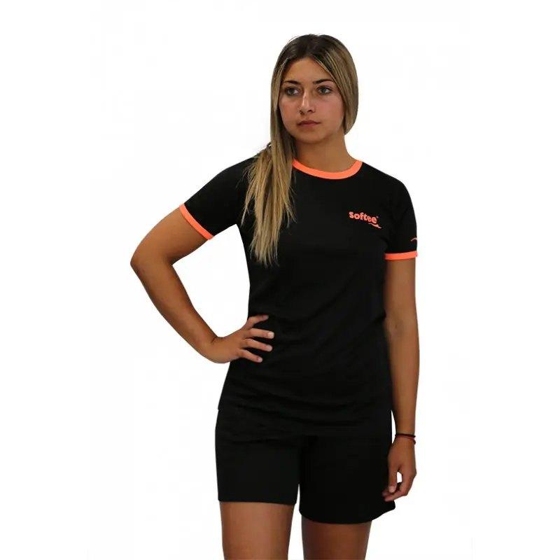 Softee T-shirt Manche Courte Galaxy XS Black / Coral Fluor