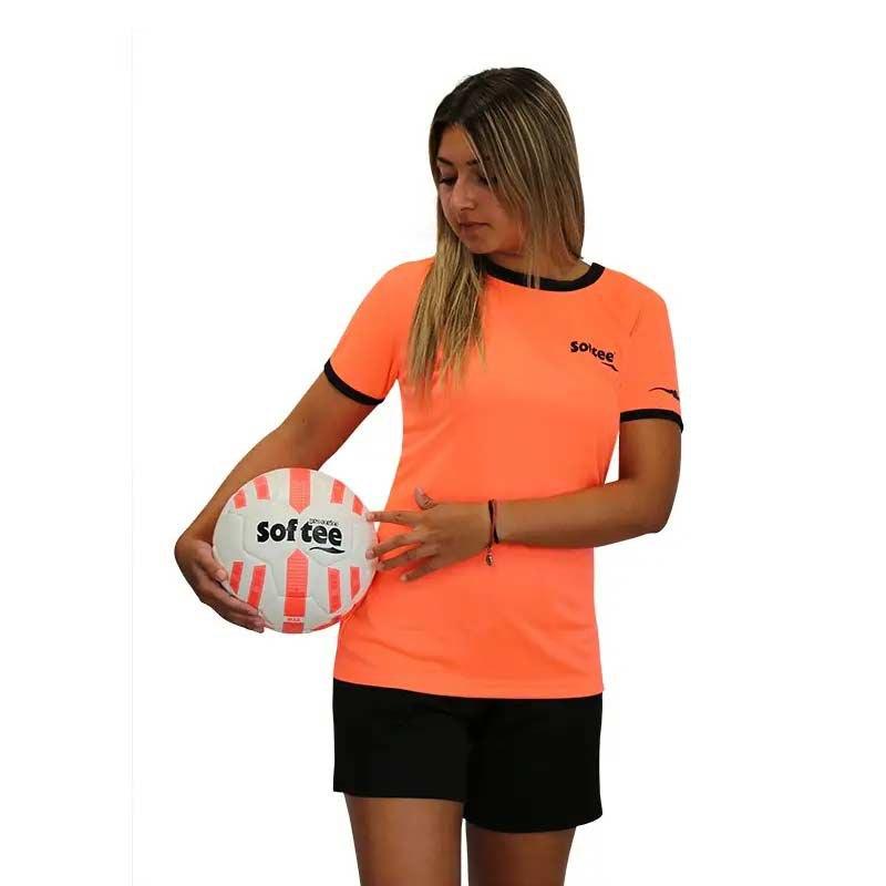 Softee T-shirt Manche Courte Galaxy XS Coral Fluor / Black