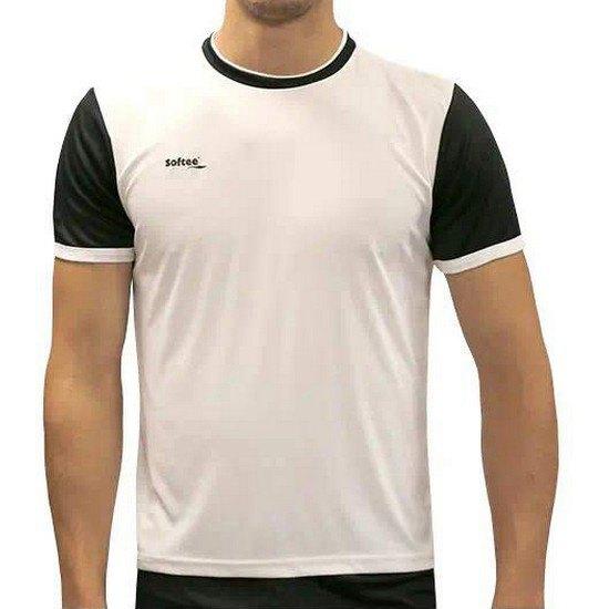 Softee T-shirt Manche Courte Line 12 Years White / Black