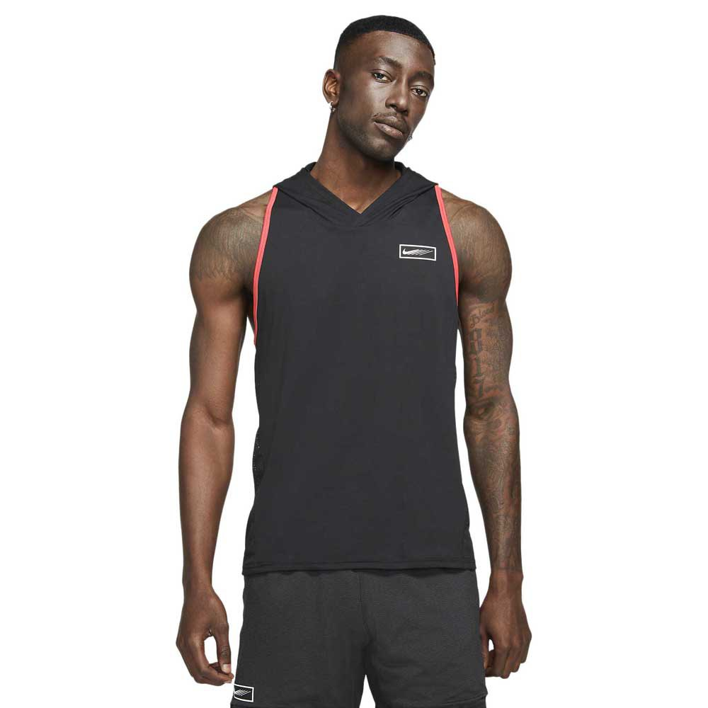 Nike Sweat À Capuche Sport Clash L Black / Lt Fusion Red / White