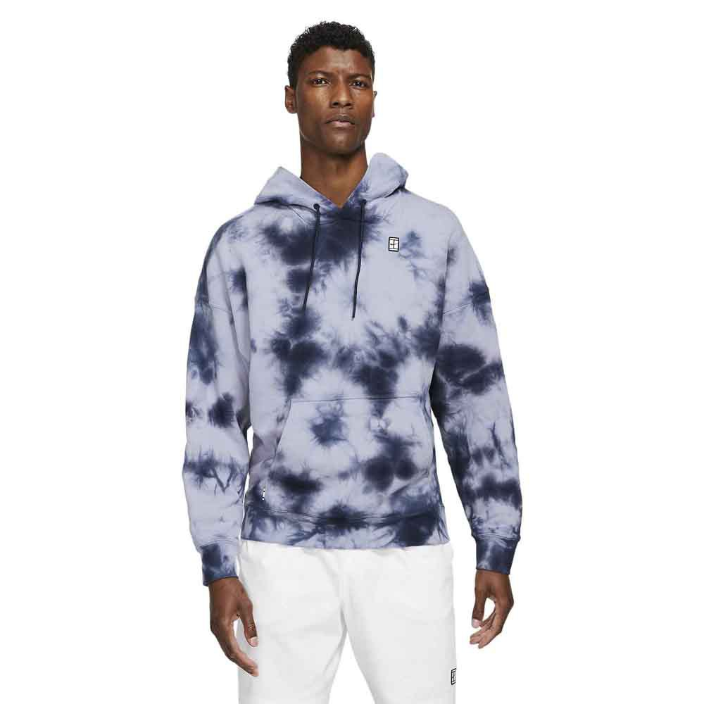 Nike Sweat À Capuche Court Fleece Tie Dye L Indigo Haze / White