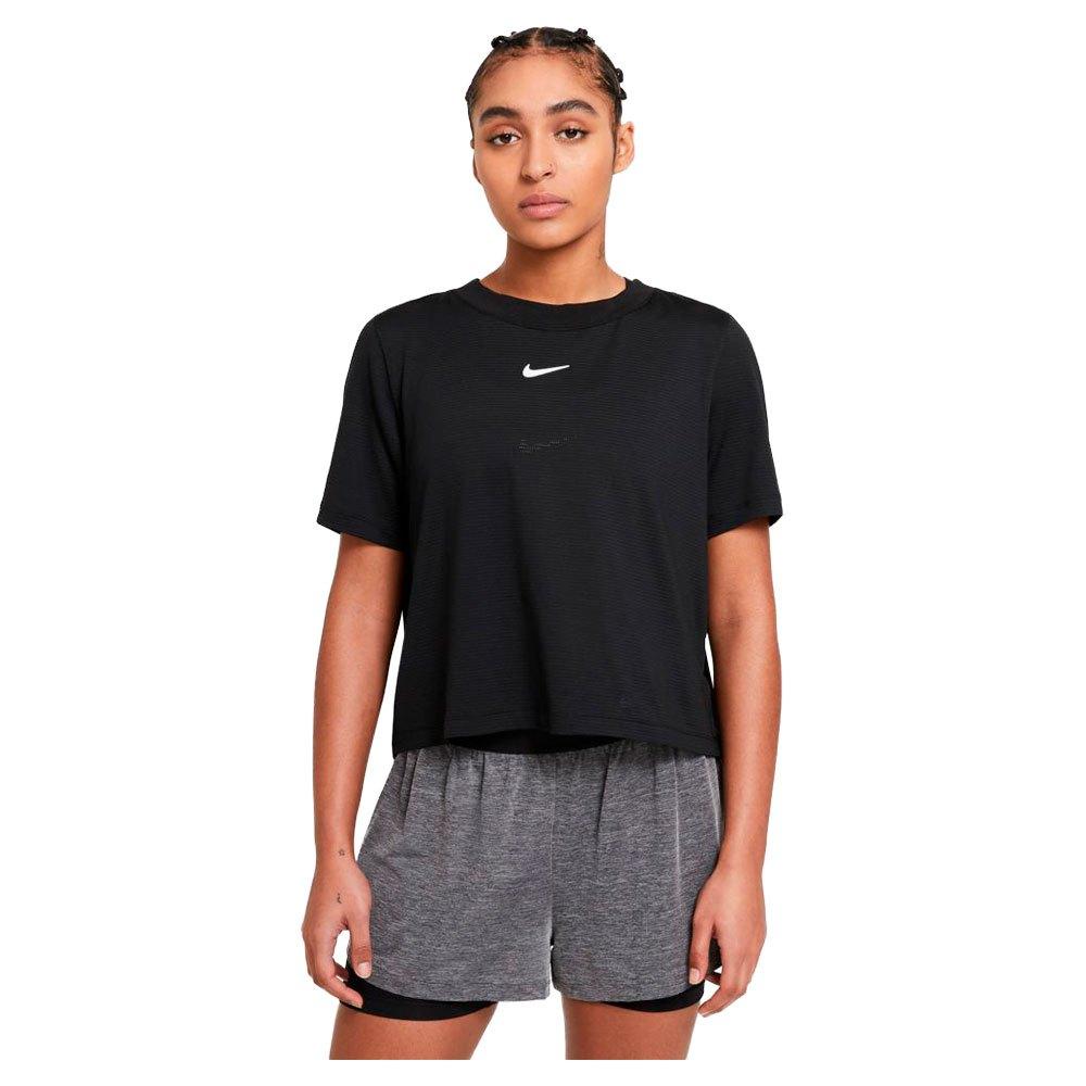 Nike T-shirt Manche Courte Court Advantage S Black / White
