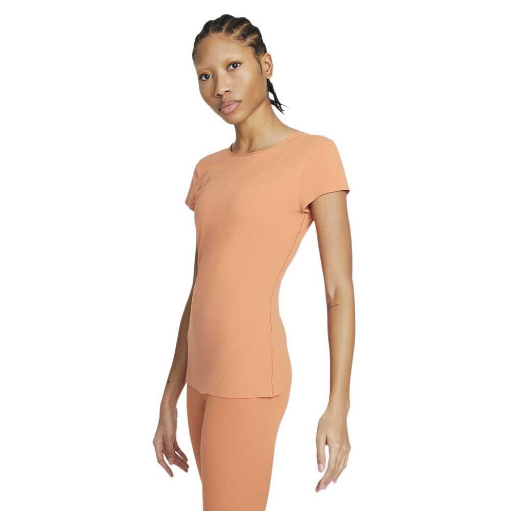 Nike T-shirt Manche Courte Yoga Luxe S Healing Orange / Apricot Agate