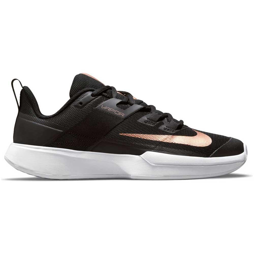 Nike Court Vapor Lite EU 38 Black / Metalic Red Bronze / White