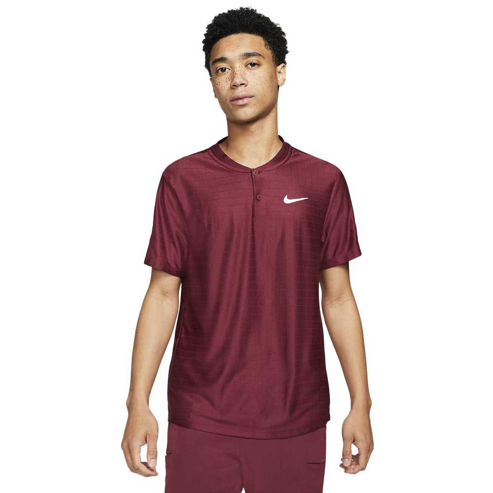 Nike Polo Manche Courte Court Dri Fit Advantage S Dark Beetroot / Dark Beetroot / White