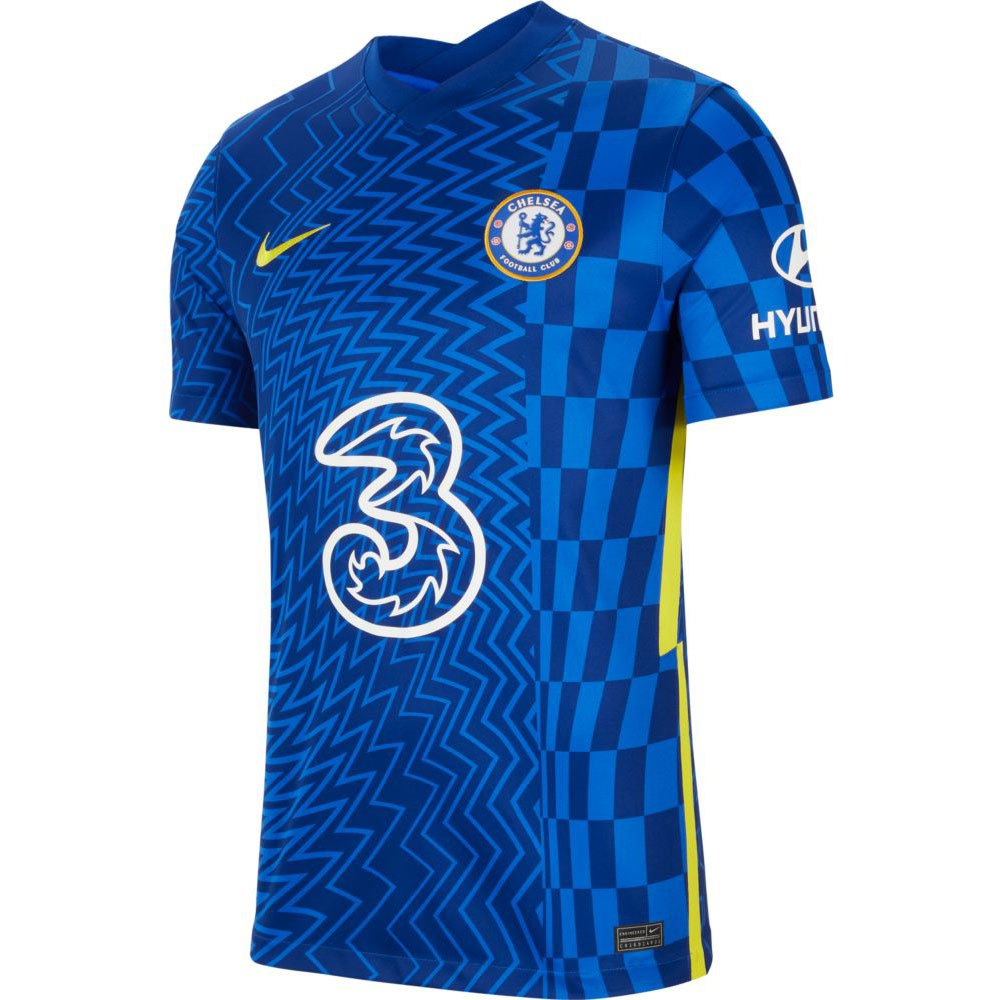 Nike Chelsea Fc Stadium Domicile 21/22 S Lyon Blue / Opti Yellow