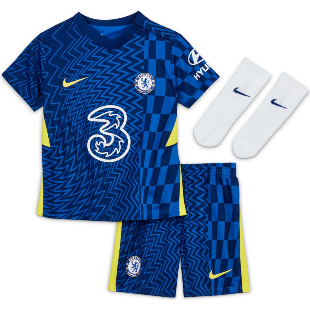 Nike Chelsea Fc Domicile Bébé Kit 20/21 9-12 Months Lyon Blue / Opti Yellow