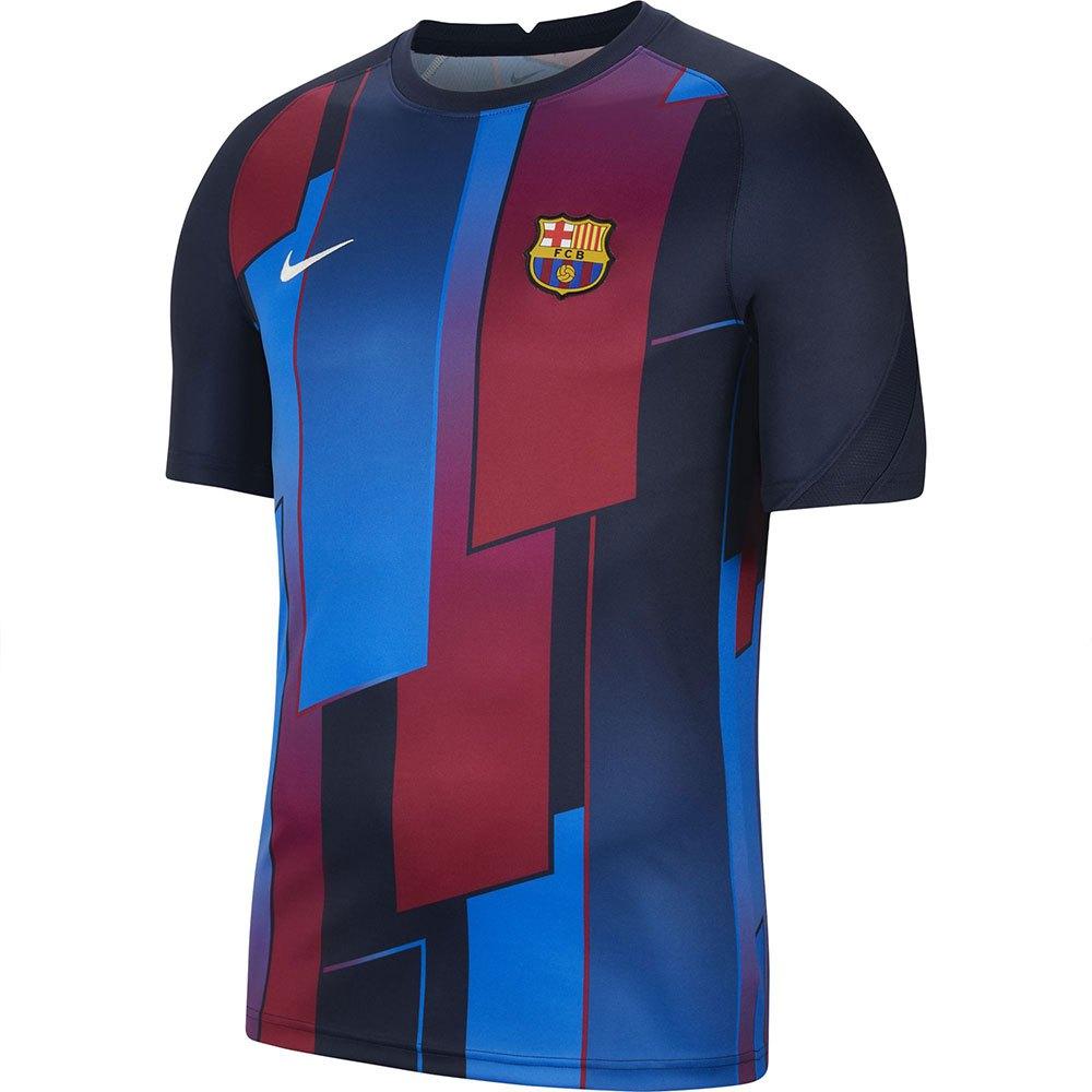 Nike T-shirt Fc Barcelona Avant Match 21/22 S Soar / Obsidian / Pale Ivory