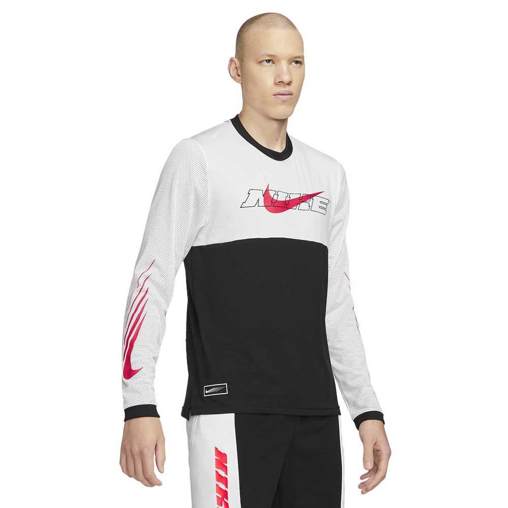 Nike Sporclash T-shirt Manche Longue L Black / White / Lt Fusion Red