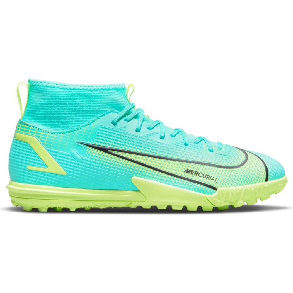 Nike Chaussures Football Mercurial Superfly Viii Academy Tf EU 37 1/2 Dynamic Turq / Lime Glow