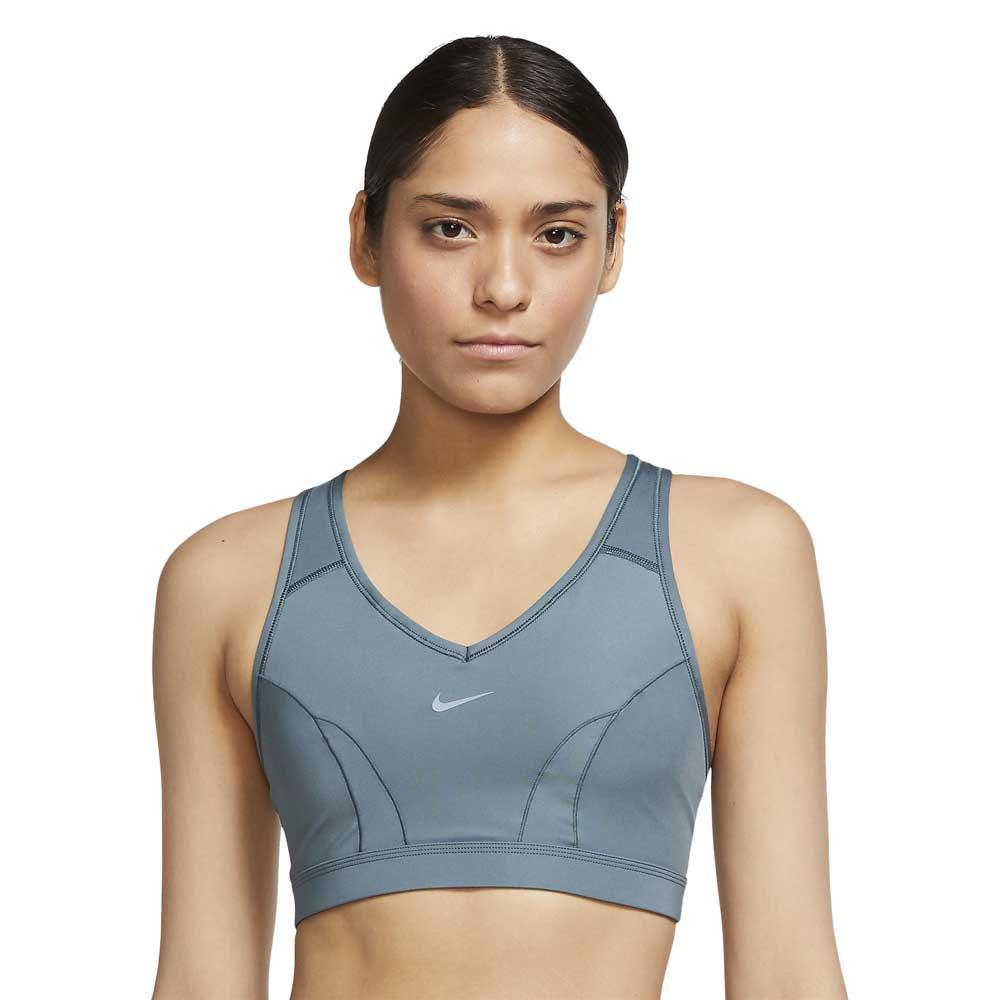 Nike Dri Fit Swoosh Icon Clash Medium Support V Neck S Hasta / Hasta / Aviator Grey