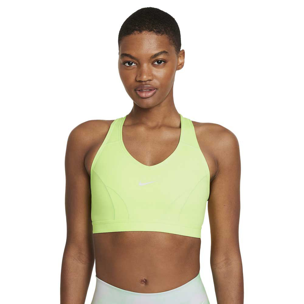 Nike Dri Fit Swoosh Icon Clash Medium Support V Neck S Lime Glow / Lime Glow / Barely Green